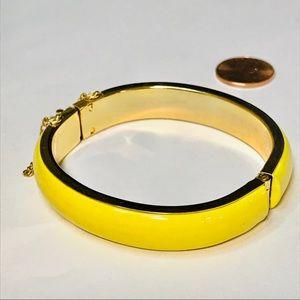 VINTAGE Yellow Enamel Bangle Bracelet